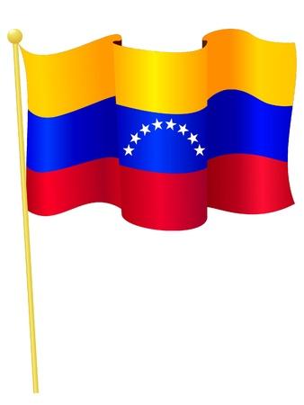 bandera de venezuela: Vector de imagen de la bandera nacional de Venezuela Vectores