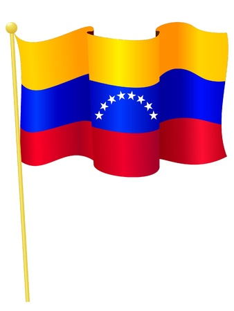 venezuela: Vector image of the national flag of Venezuela Illustration