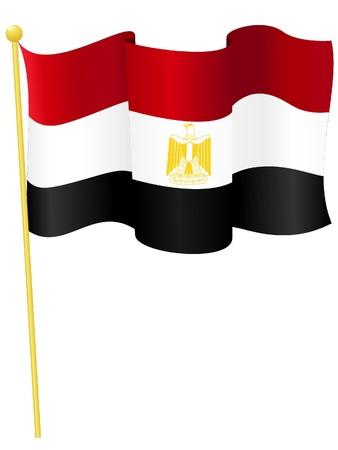 Vector illustration of the national flag of Egypt Vector