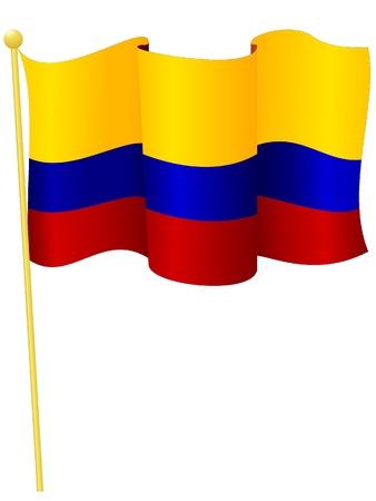 la bandera de colombia: Ilustraci�n vectorial de la bandera de Colombia