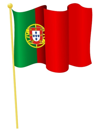 Vector illustration of the flag Portugal Stock Vector - 11891115