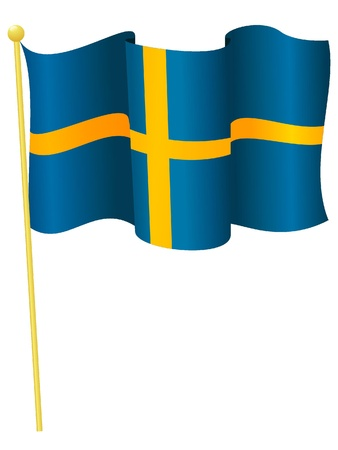 Vector illustration of the flag Sweden Vector
