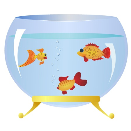 Decorative fishs in an aquarium Vector