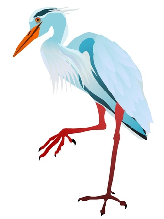 heron: Vectors gray heron Illustration