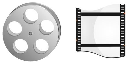 bobbin and frame movie Stock Vector - 11897524