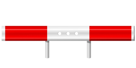 vector illustration of a guardrail Vector