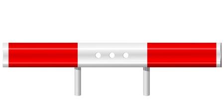 guard rail: vector illustration of a guardrail