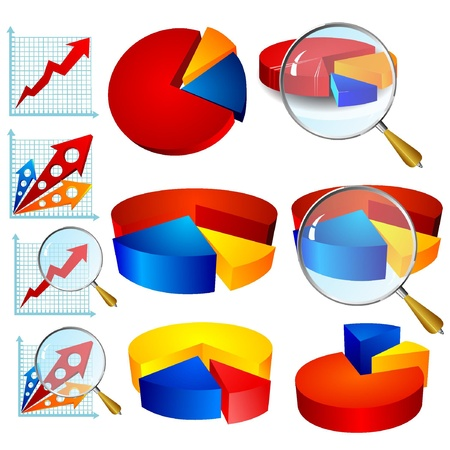 Vector collection of colorful diagrams for business Vector