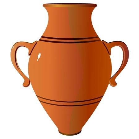 water jug: Amphora. vector