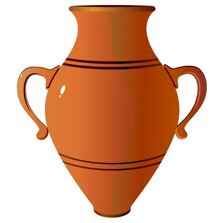 decorative urn: Amphora. vector