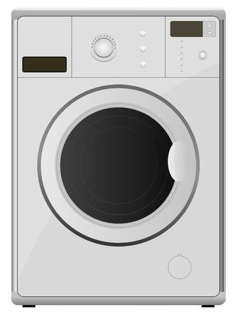 electrical appliance: washing machine. vector