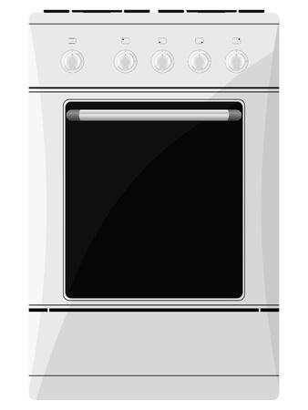 gas cooker: cocina de gas. vector