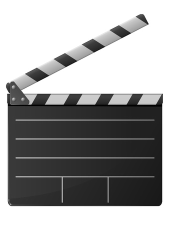 Cinema clapper. Vector Vector