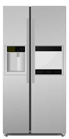 fridge: refrigerator. vector