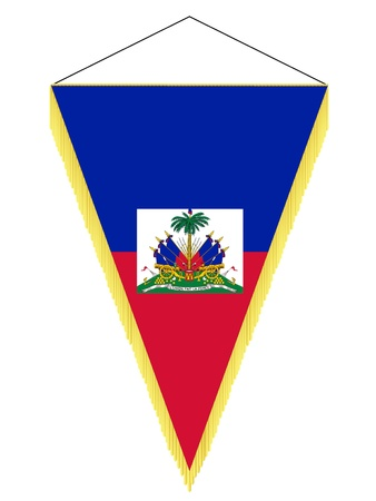 Vector pennant with the national flag of Haiti Illustration
