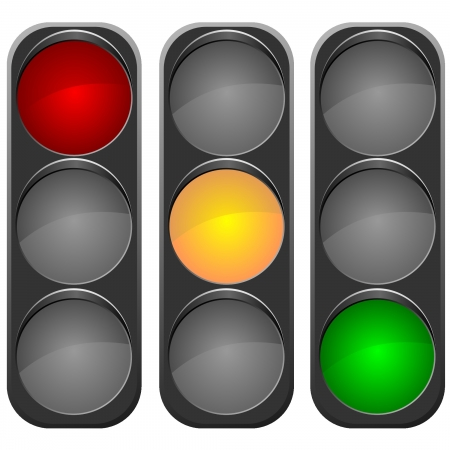 Vector image traffic light Illustration