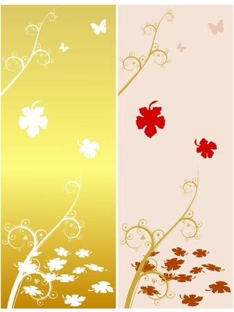 Autumn motive with maple leaves. vector Vector