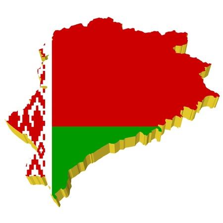 vectors 3D map of Belarus Stock Vector - 11942418