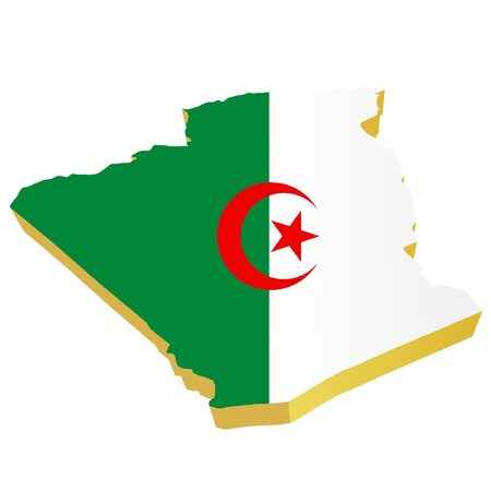 Vectors 3D map of  Algeria Stock Vector - 11942382