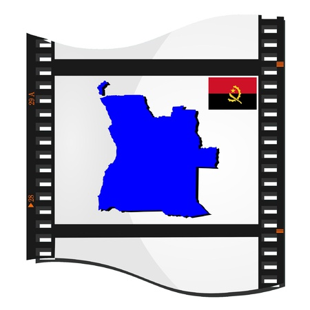 Film shots with a national map of   Angola Stock Vector - 11942419