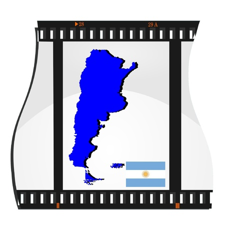 Film shots with a national map of  Argentina Stock Vector - 11942438
