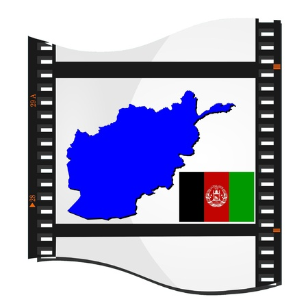 Film shots with a national map of  Afghanistan Vector