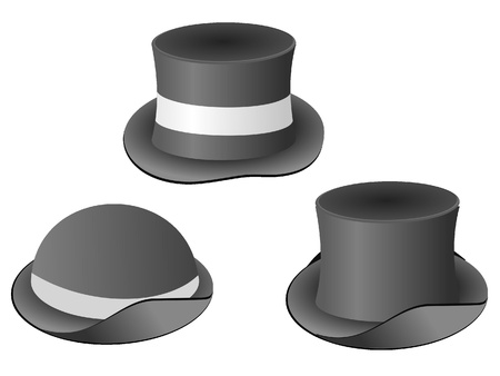 plural: Collection of vector images of hats