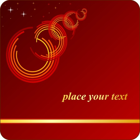 red background with an open ring Vector