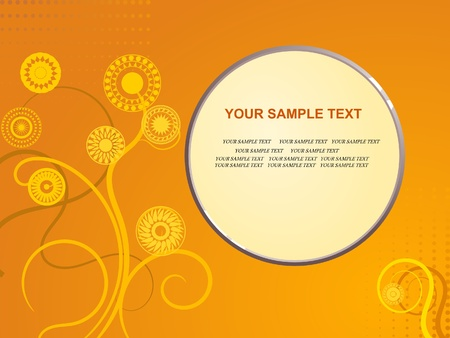 free backgrounds: Vector background with floral ornaments