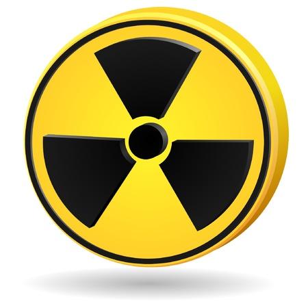 3d sign radiation. vector Stock Vector - 11942397