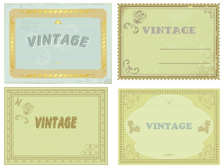 collection of vintage labels. vector Vector