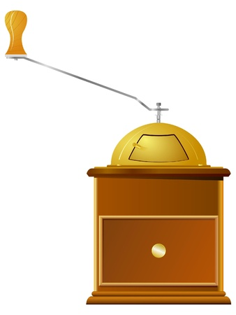 coffee-grinder. vector Illustration