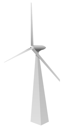 ic: vector image windmill. vector
