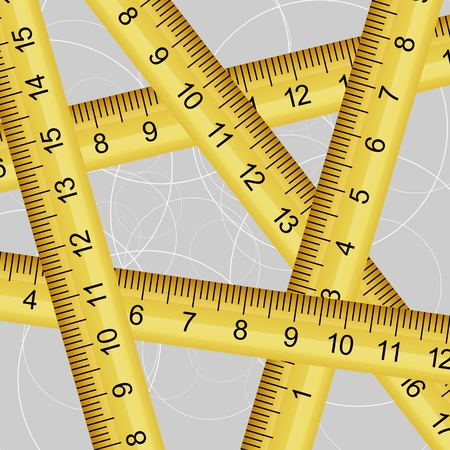 Vector illustration of a measuring tape texture Vector