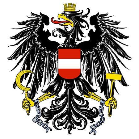 Vector nationale wapen van Oostenrijk Vector Illustratie