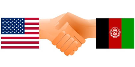 sign of friendship the United States and Afghanistan Vector