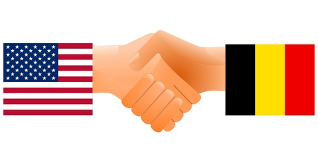 sign of friendship the United States and Belgium Stock Vector - 11942393