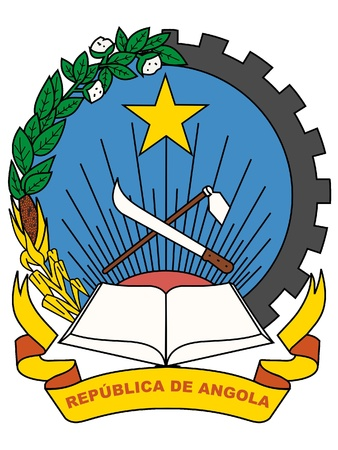 angola: the national coat of arms of Angola Illustration