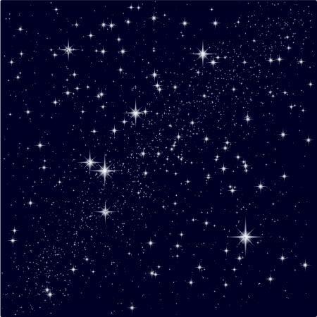 costellazioni: Illustrazione vettoriale di un cielo stellato Vettoriali