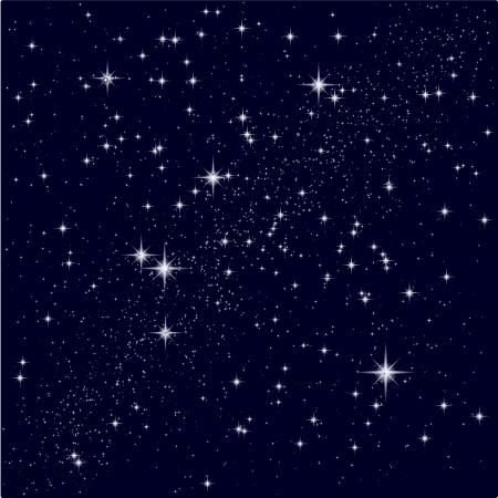 Vector ilustración de un cielo estrellado