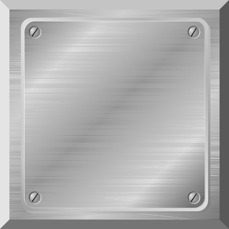 the plaque: Ilustraci�n vectorial de una placa de metal con los rasgu�os Vectores