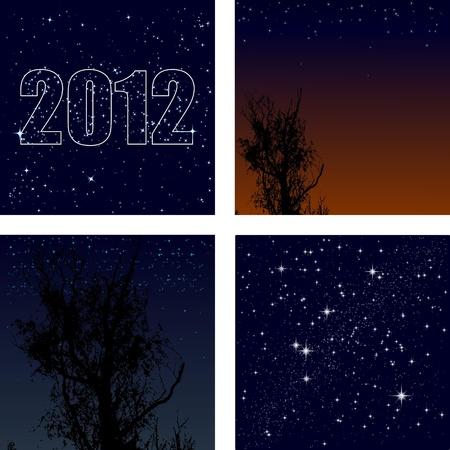 Vector set of background starry sky Stock Vector - 11942514