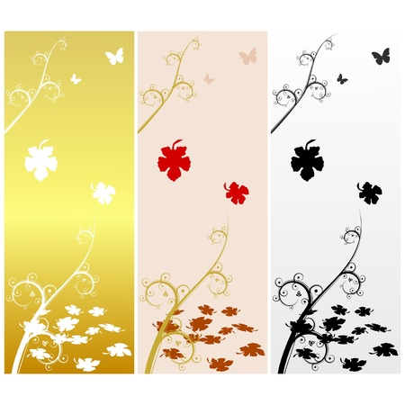 Autumn background with maple leaves. vector Vector