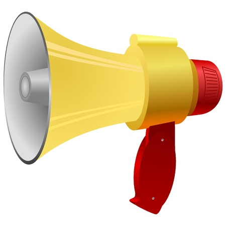Vector illustration of a megaphone. Vector