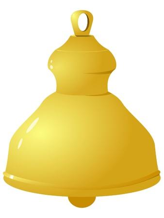 Vector illustration of golden bells. Vector