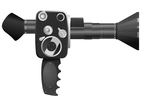 Vector illustration of old cameras Stock Vector - 11942943