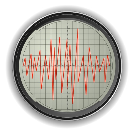 Vector illustration of an oscilloscope Vector