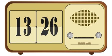 clock radio: Ilustraci�n vectorial de la radio viejo reloj