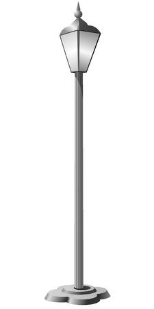 lampposts: Ilustraci�n vectorial de una calle de lam Vectores