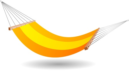 Vector illustration of a hammock Vector
